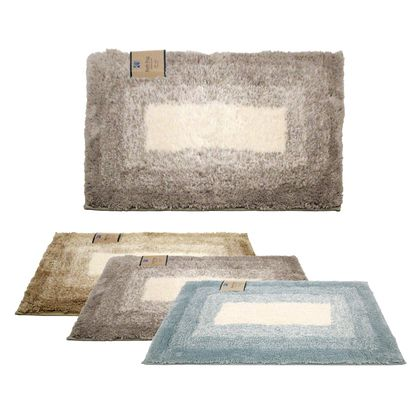 Soft Plush Rubber Backed Race Track Design Microfiber Bath Rug
