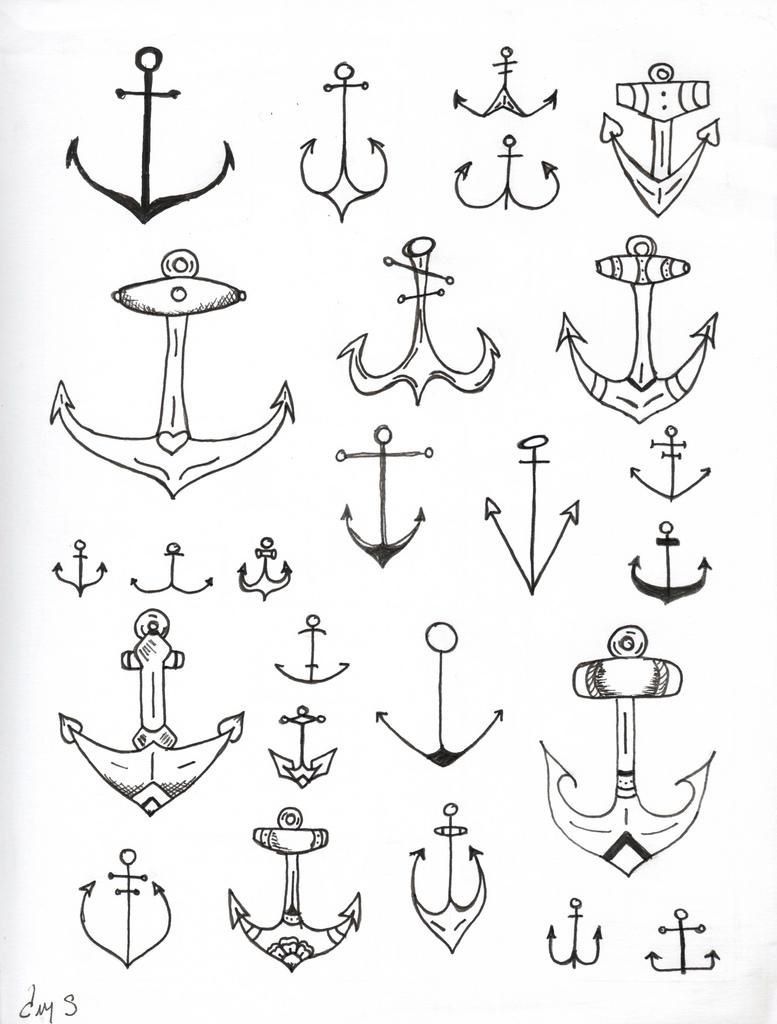 Day 3 Anchors Ahoy Det Kreative Tatuajes Anclas Inspiración