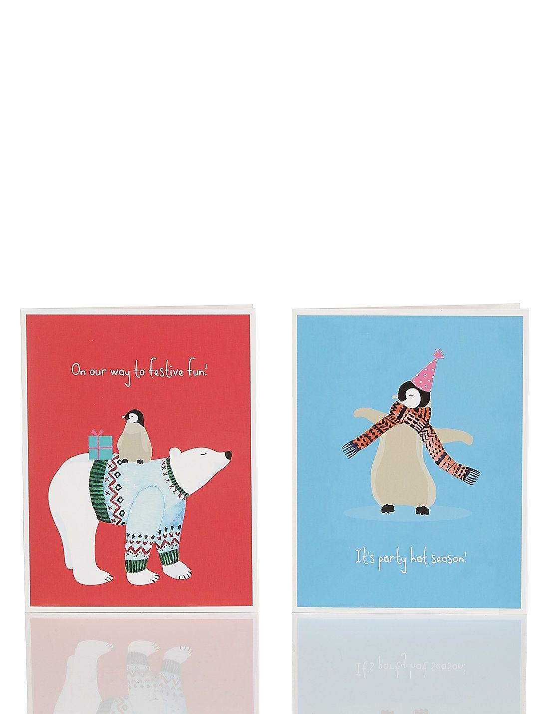 20 cute penguin polar bear charity christmas multipack cards 20 cute penguin polar bear charity christmas multipack cards kristyandbryce Image collections
