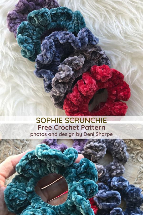 Easy Crochet Scrunchie Free Pattern - Knit And Crochet Daily