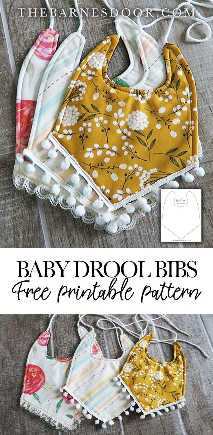 Baby Drool Bibs With FREE Pattern