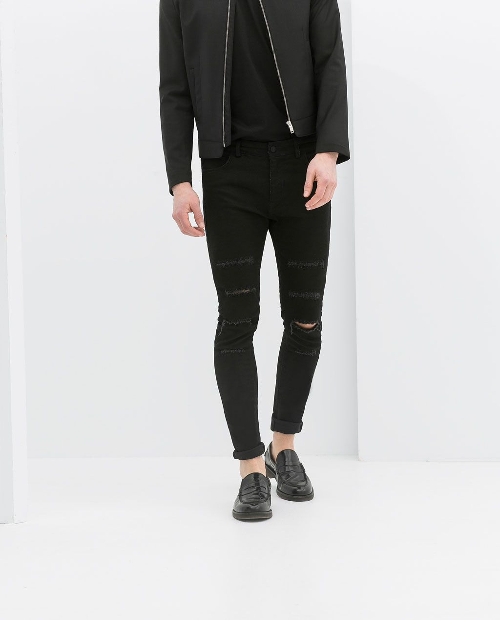 Jeans Skinny Zara Outfit Man In Ripped 2019Männer ChrsQdtxB