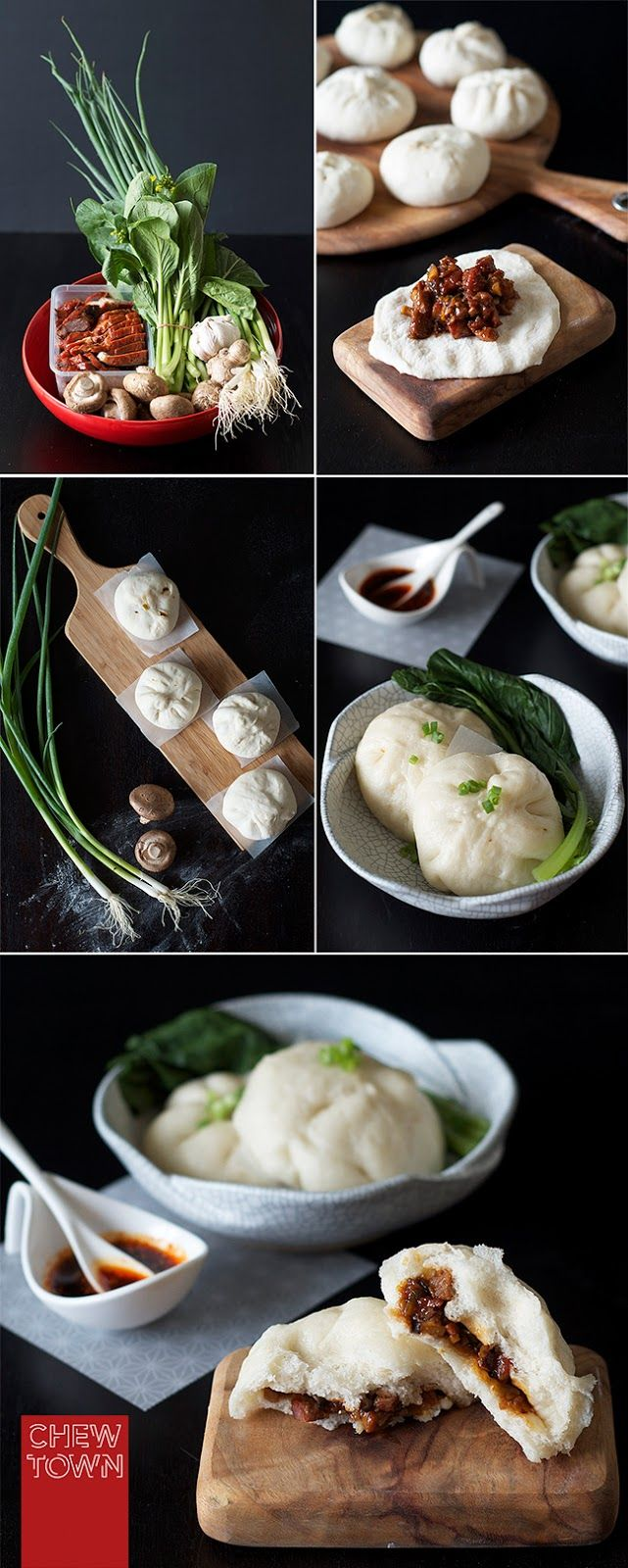 Char Siu Bao (BBQ Pork Buns) Recipe | Teigtaschen, Asiatisch und Essen