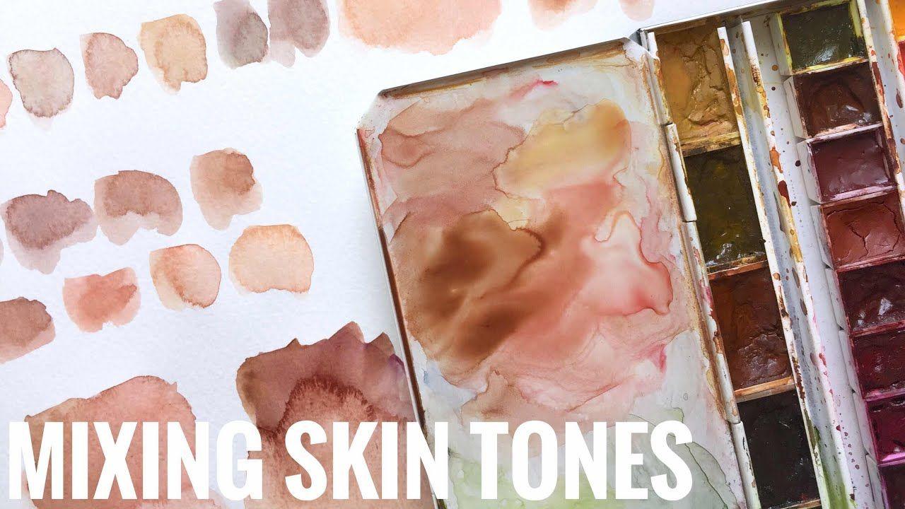Skin Tones Watercolor Youtube Watercolor Skin Tones
