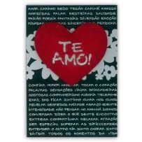 Cartão Romântico Artesanal Coração Te Amo