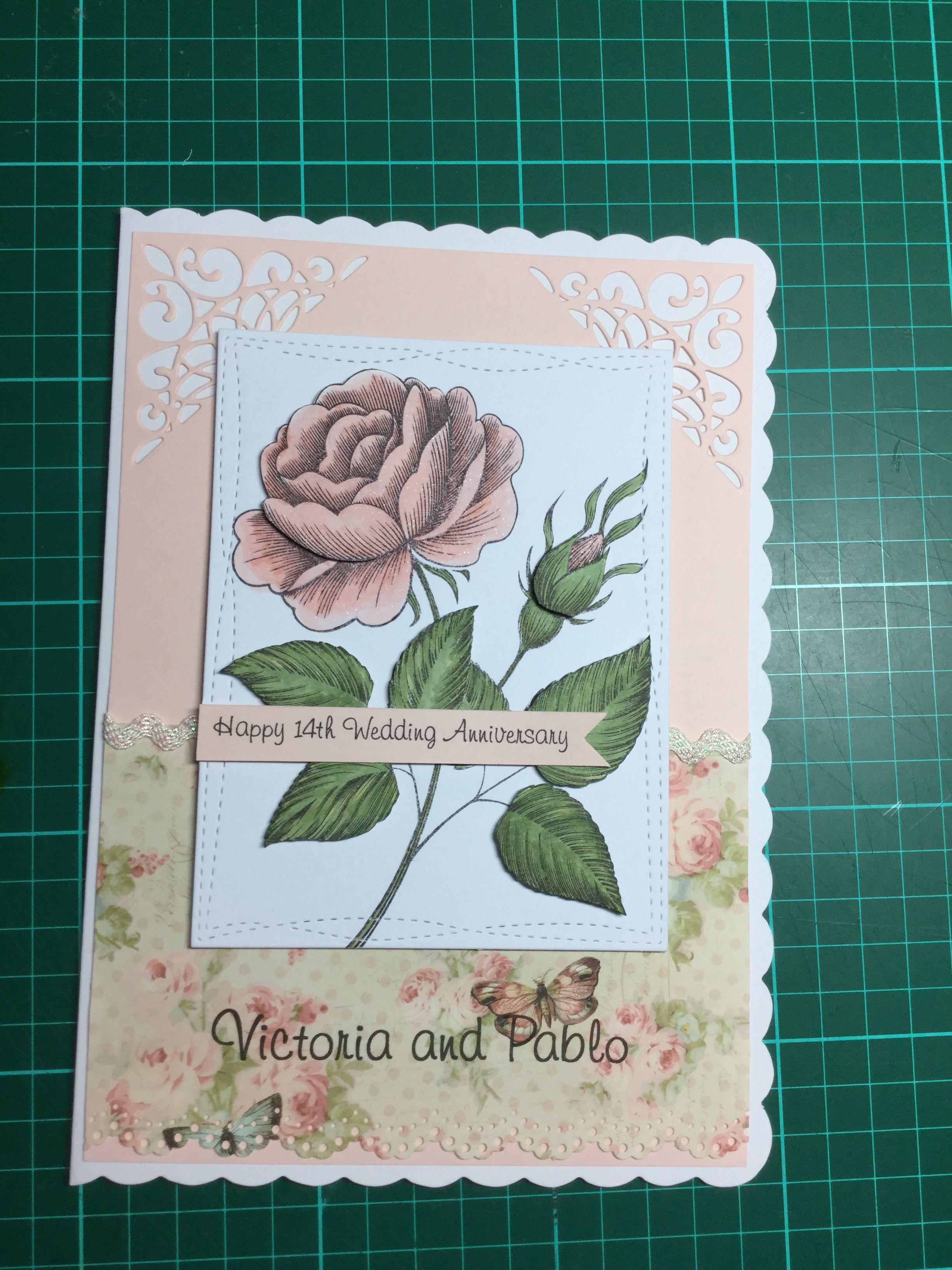 Pin by Margaret Miles on Cards By Me 14th wedding