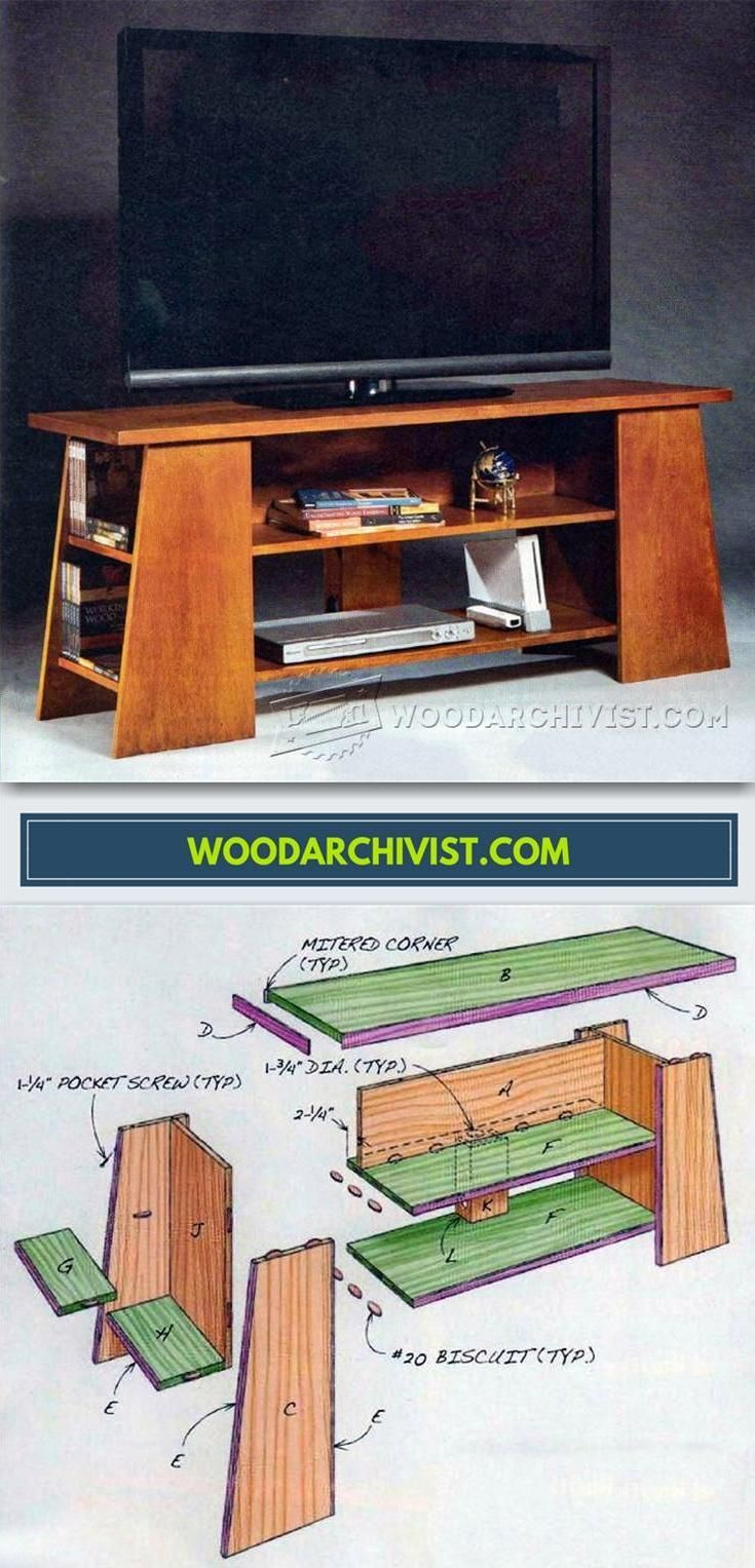 Tv stand plans furniture plans and projects woodarchivist