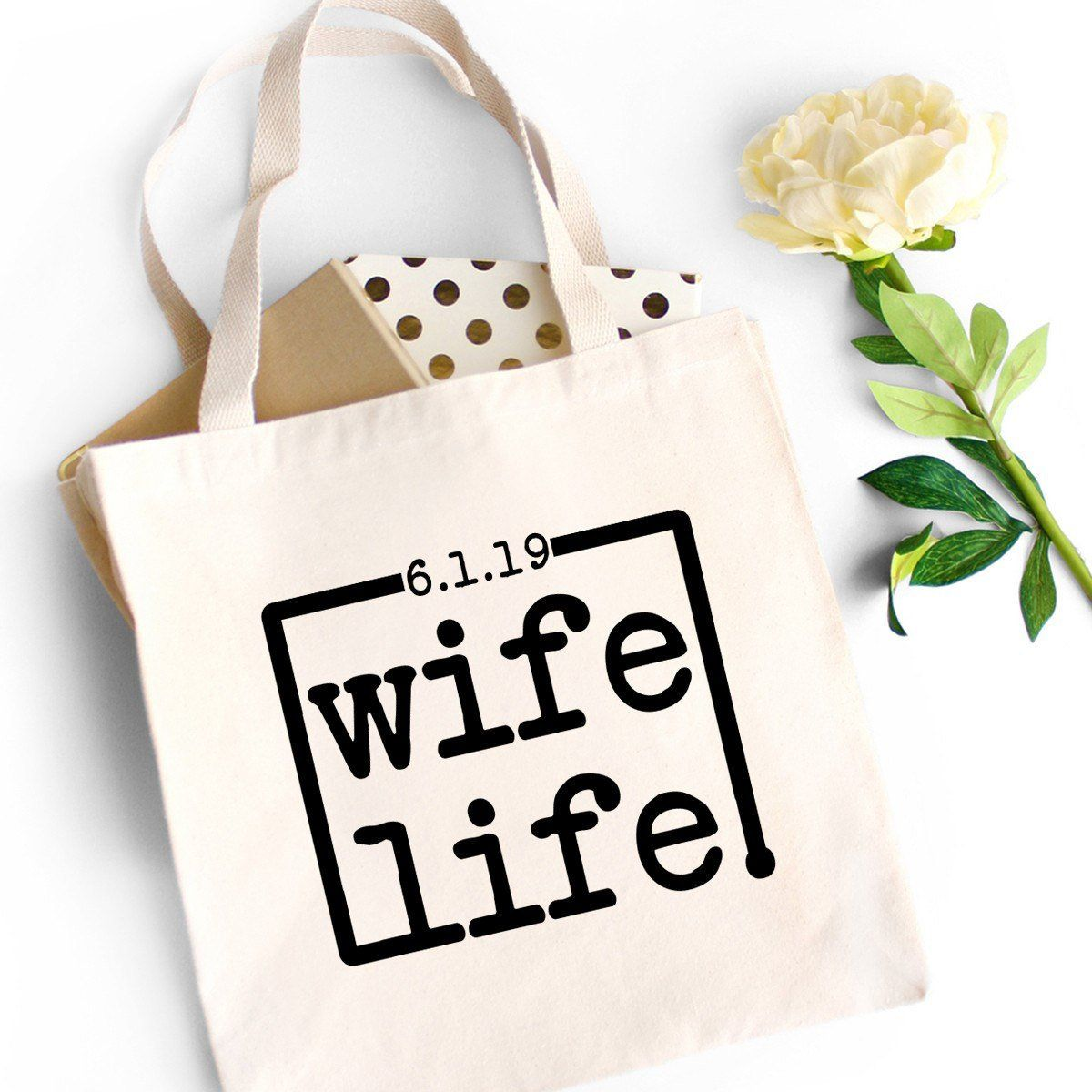Totes Engaged Tote Bag Funny Cotton Shopping Lightweight Bridal Shower Bride Hen