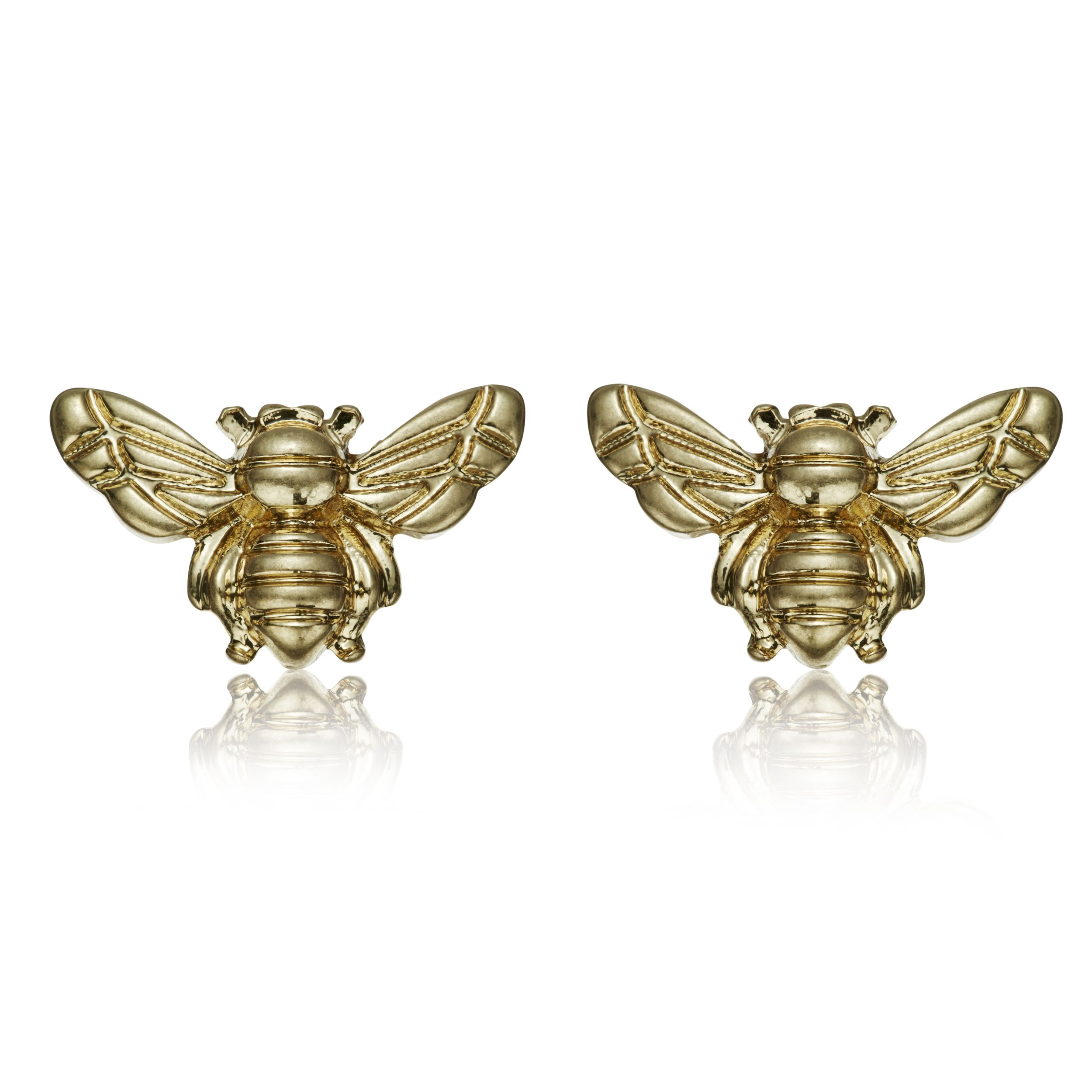 vermeil gold stud silver sterling bee reppin earrings product