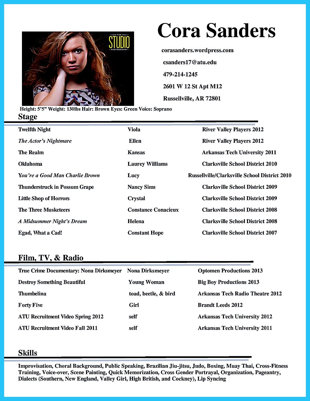 Actor Resume Template Gives You More Options On How To Write Your Actor Resume Rightly And Incredibly To E Acting Resume Acting Resume Template Resume Template