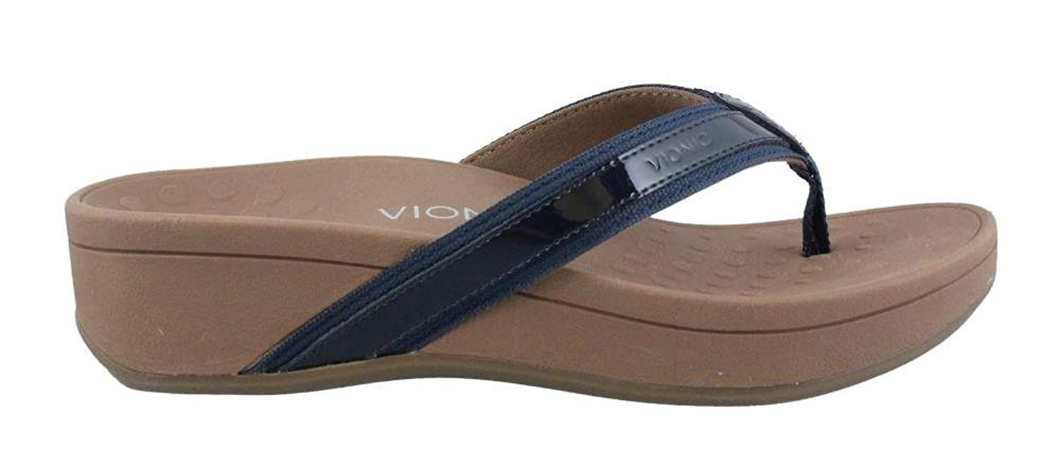 b93e4e68176 Vionic Womens Pacific Hightide Toepost Platform Sandal Navy Size 10. High  Tide takes the toe