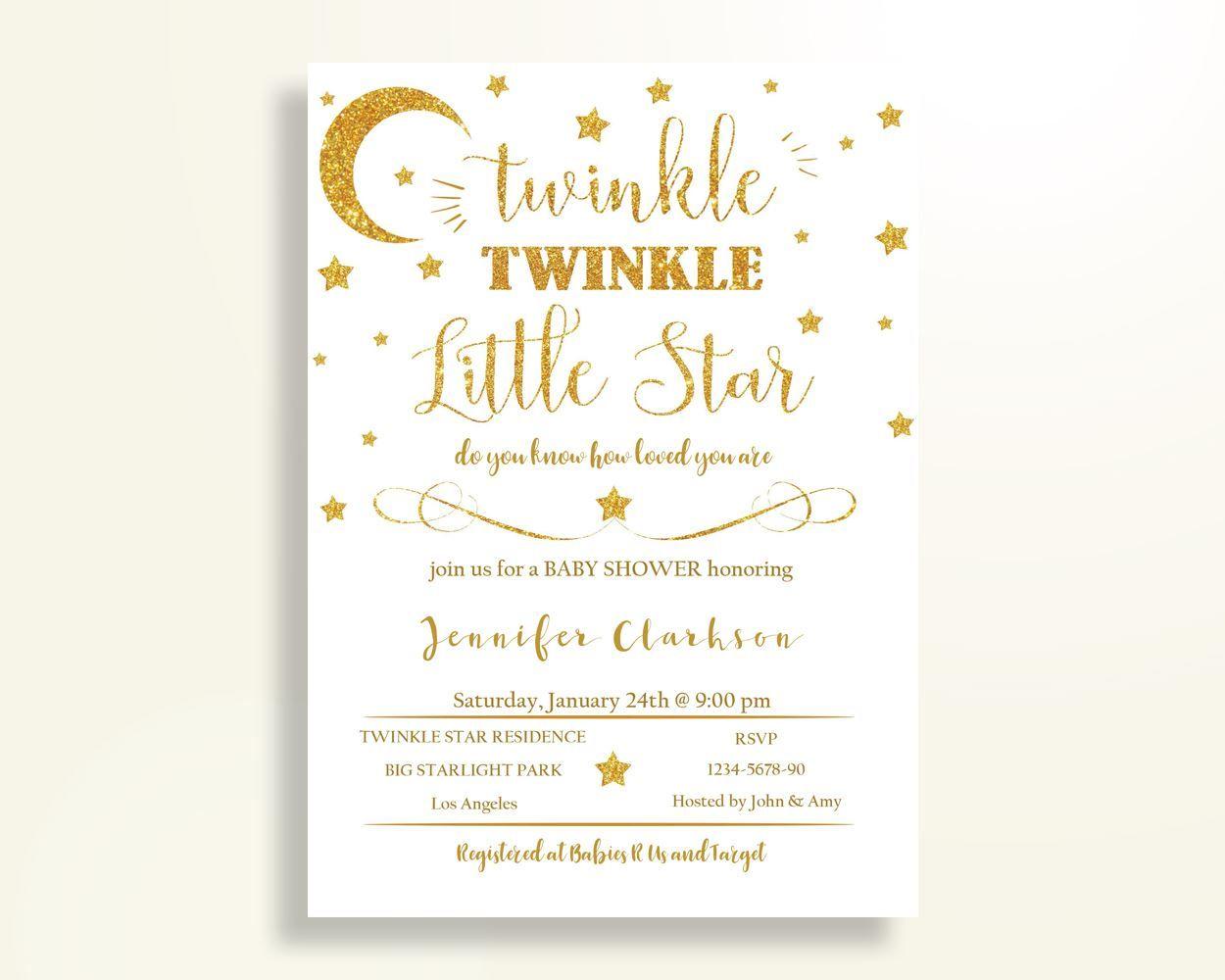Invitation Baby Shower Invitation Stars Baby Shower Invitation Baby ...