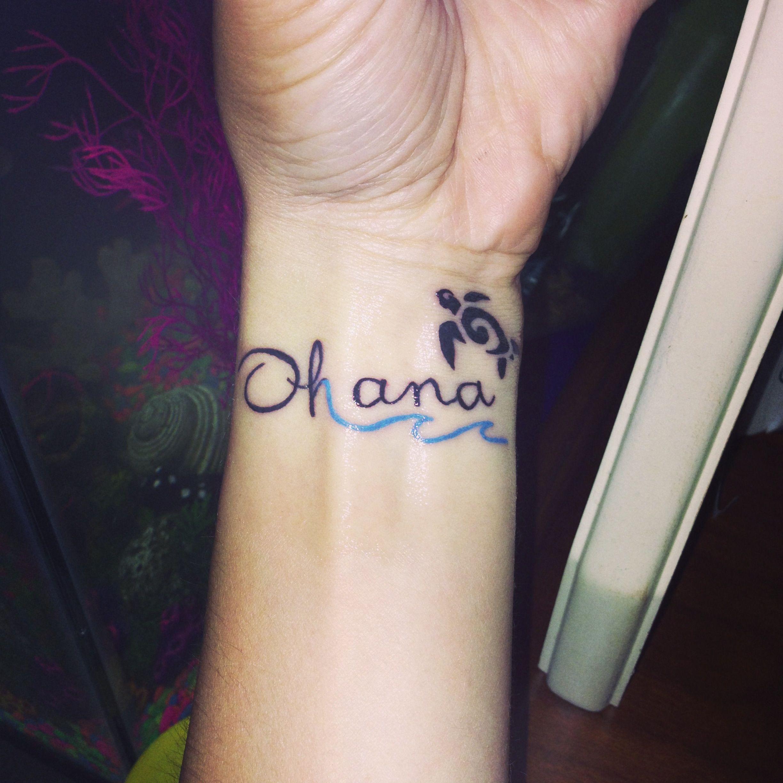 8e03f4a1d Ohana tattoo plus a blue wave and a tribal turtle very cute ...
