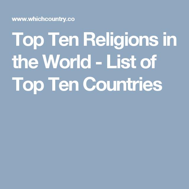 Top Ten Religions In The World List Of Top Ten Countries - Top ten religions in world