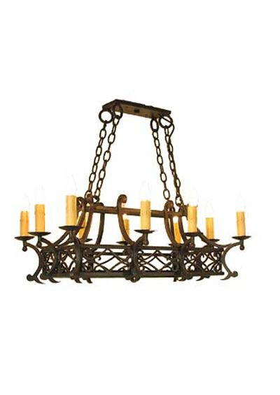 The Lancaster Rectangle Chandelier Old Fashioned Style Rectangular Wrought Iron