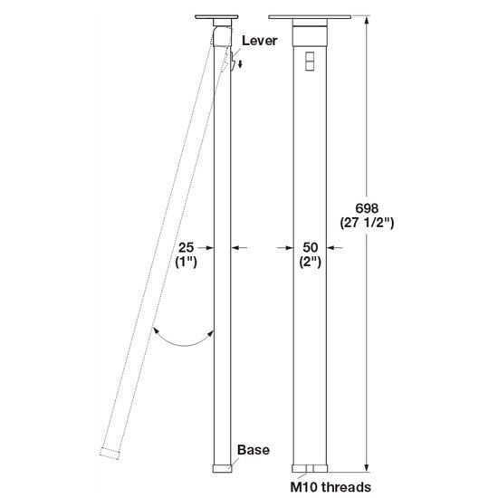 The Folding Elliptical Table Leg By Hafele Is Great For Boats Rvs