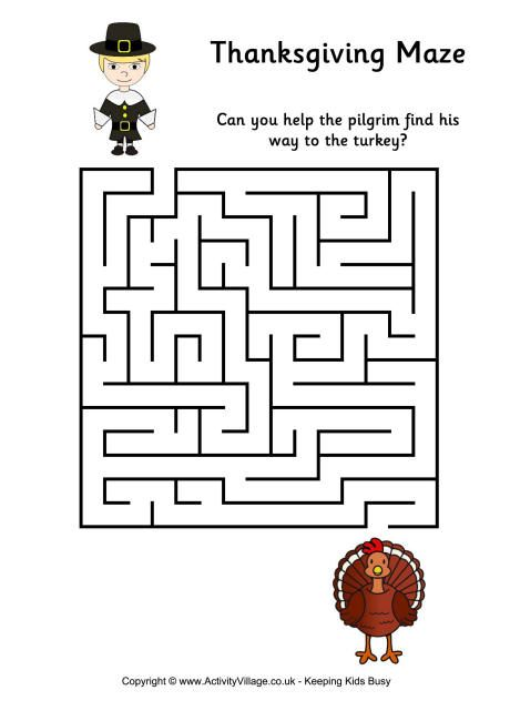 Thanksgiving Maze 1 Thanksgiving Coloring Pages Thanksgiving Worksheets Free Thanksgiving Coloring Pages