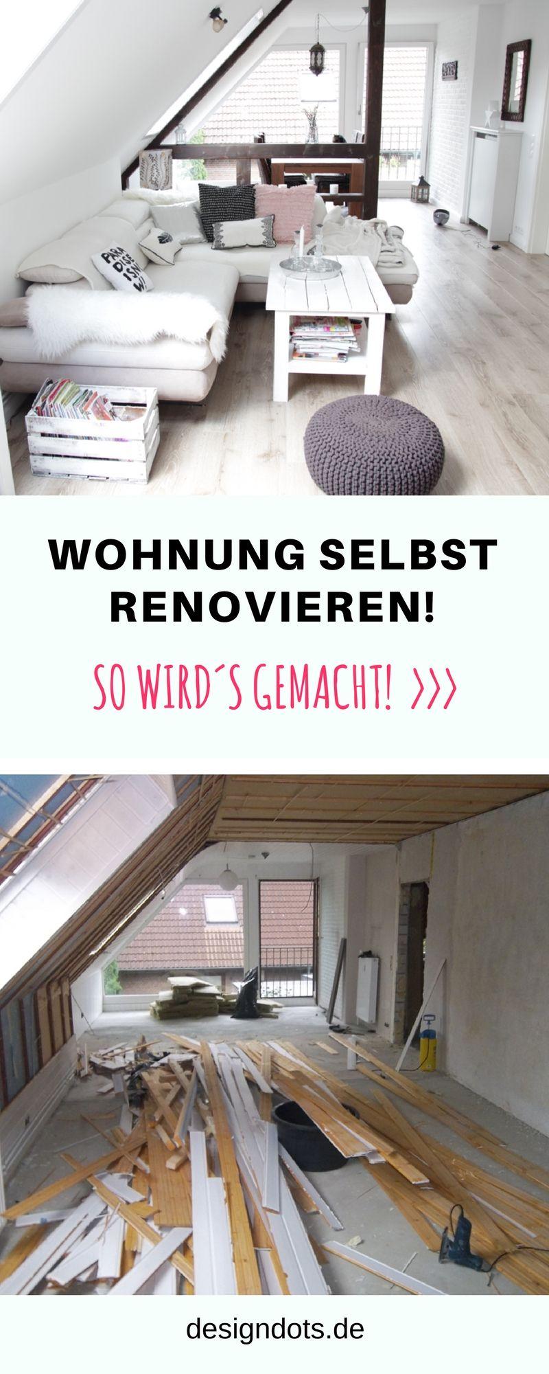 Wohnung renovieren: vorher nachher | WOHNZIMMER Ideen, DIY ...