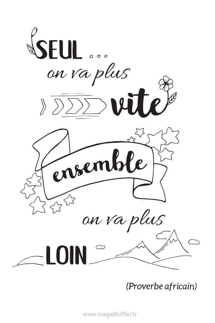 Ensemble On Va Plus Loin : ensemble, Citation, Vite,, Ensemble, #Citation, #Ilustration, Citation,, Citations, Illustrées,, Créatives