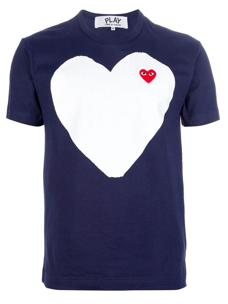 Comme Des Garcons Heart Men T-shirt, Play T-Shirt Shirt For Men, For Him, Tee, Hypebeast, Desiger, Birthday Gift For Him