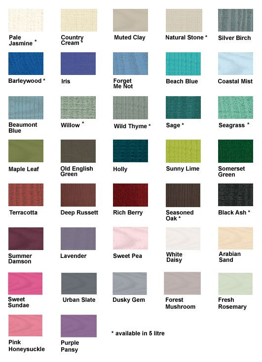 Colour Charts Cuprinol Shades