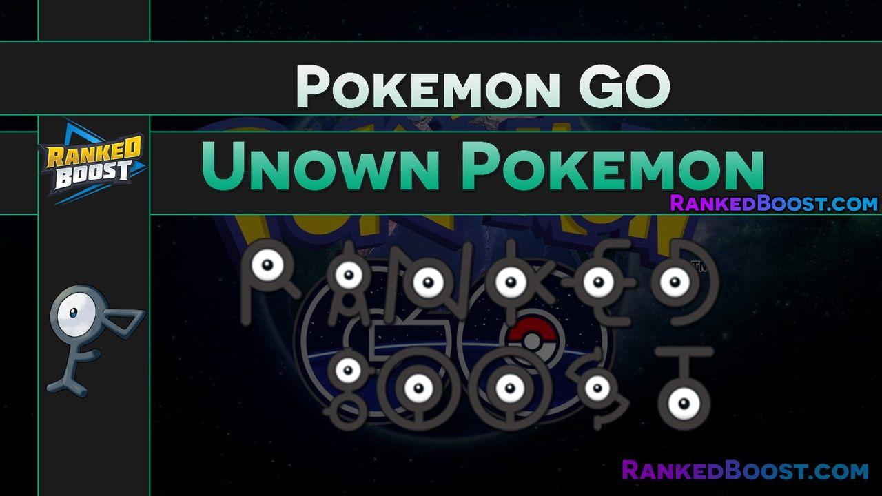 Pokemon GO Unown Letters | pokemongo