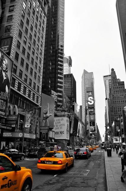 Borrowed inspiration for my newest obsession, selective color photography:)