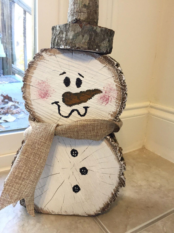 Wooden Snowman by MoNkeyBUTTarts on Etsy https//www.etsy