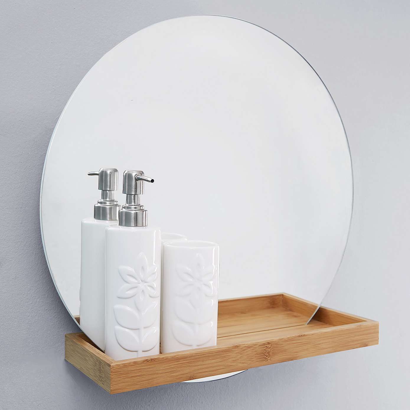 Dunelm Bathroom Mirrors - Elements bathroom mirror with shelf dunelm