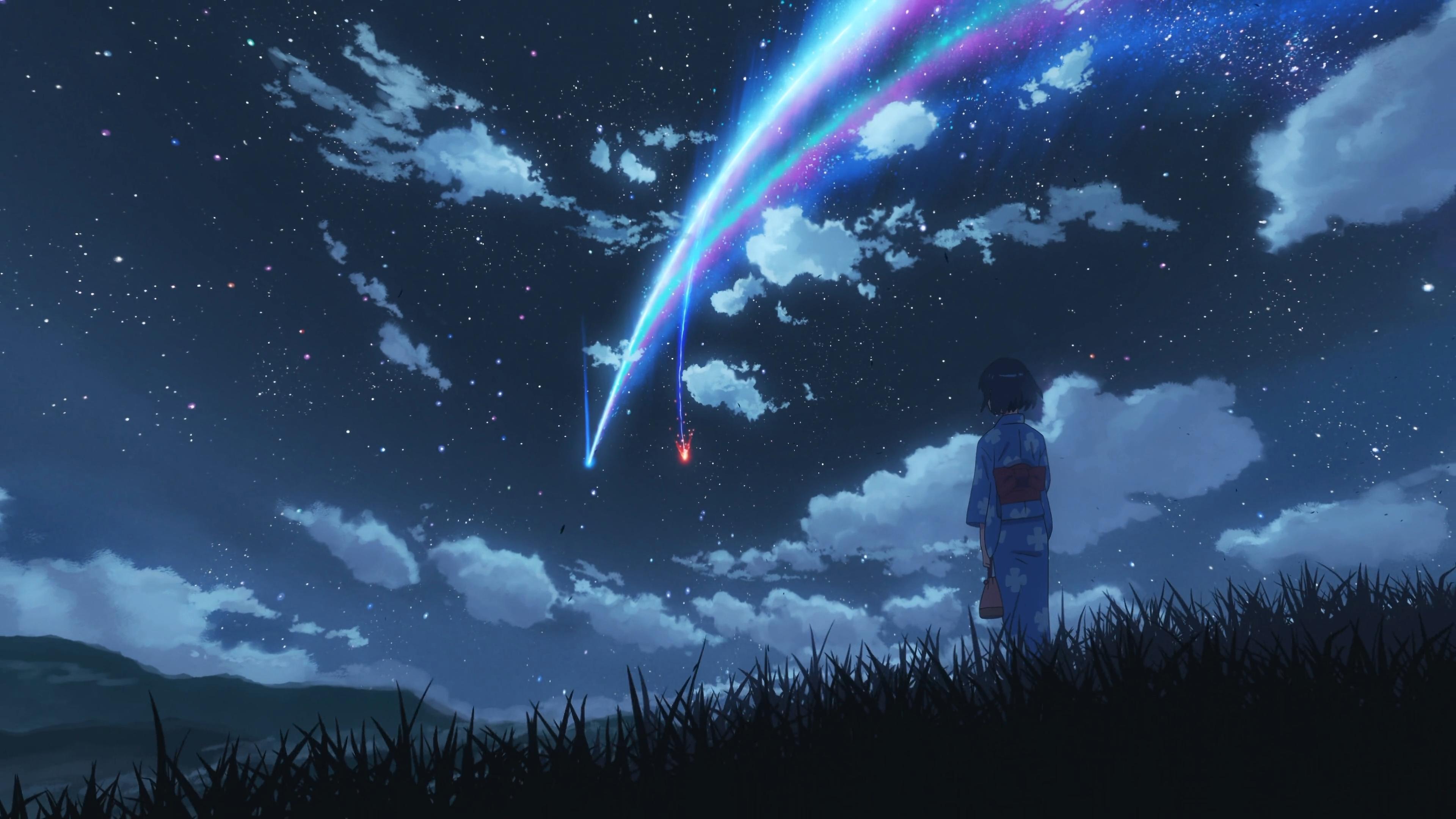 Anime 3840x2160 Makoto Shinkai Kimi No Na Wa Kimi No Na Wa