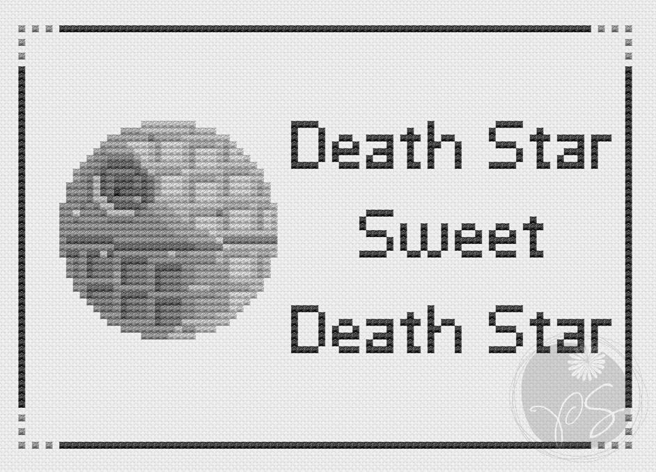 Death Star, sweet Death Star   Punto de cruz, Bordado y Puntos