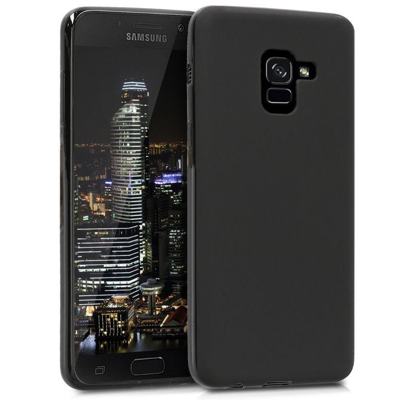 Husa Samsung Galaxy A7 2018 A8 Plus 2018 Ultra Slim Mat Negru Negru Husă Husă Telefon