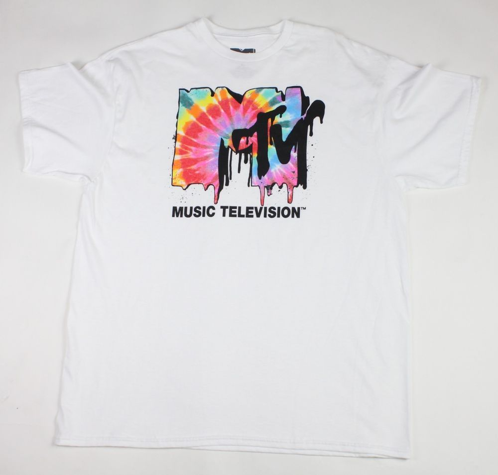 28ceaec23b5f0 MTV Melted Tie Dye Logo Mens Graphic T Shirt White Music Television Men s  XL  fashion  clothing  shoes  accessories  mensclothing  shirts (ebay link)