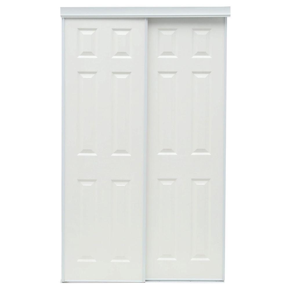 Truporte 48 In X 80 In 106 Series White Composite Interior Sliding Door 340010 Sliding Doors Interior Sliding Closet Doors White Interior