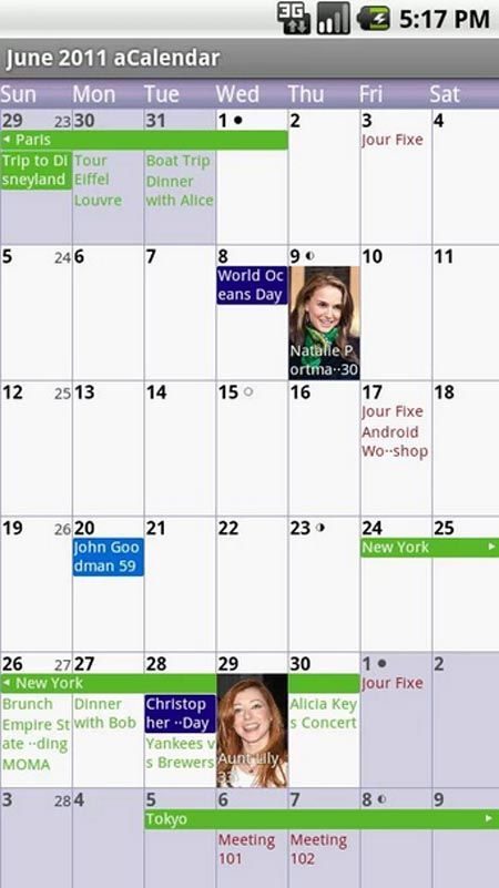 Acalendar Android Calendar Android Market Best Android Apps