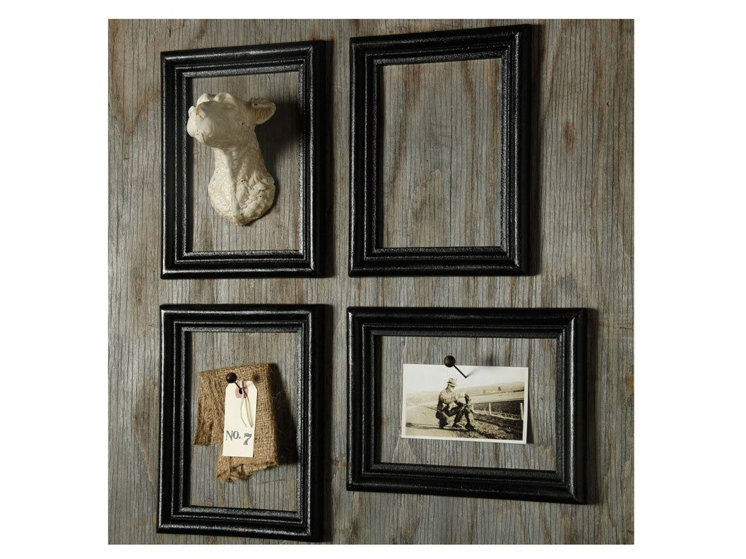 Mount photos and mementos in empty frames