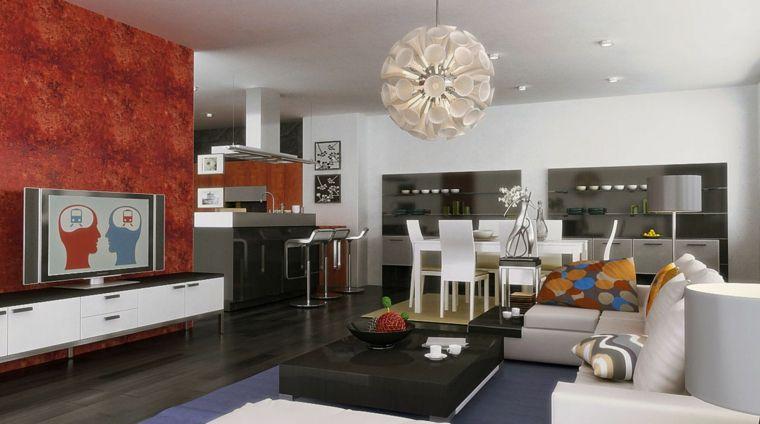 idea per come arredare salotto e sala da pranzo insieme con mobili ...