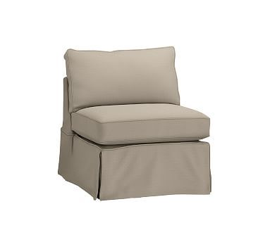 pb basic slipcovered armless chair polyester wrapped cushions rh pinterest com