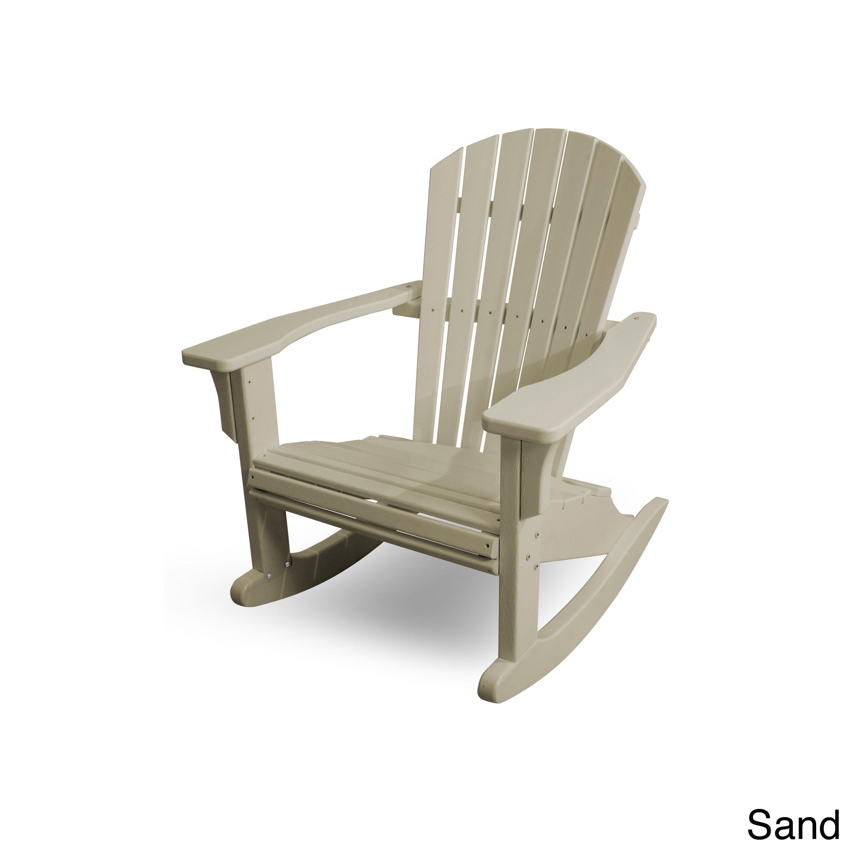 polywood seashell rocker sand beige size single patio furniture rh pinterest co uk