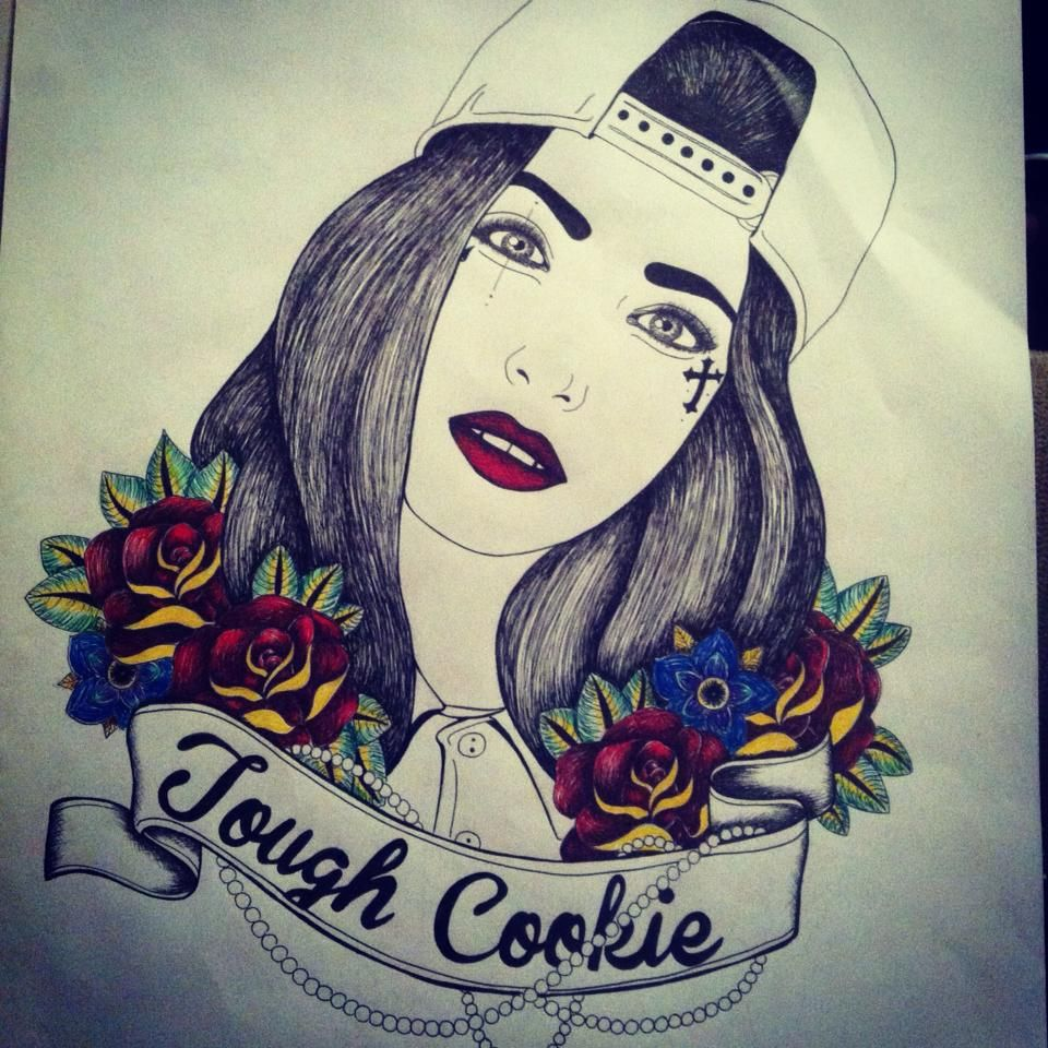 Pen Illustration Tough Cookie Design tattoo illustration