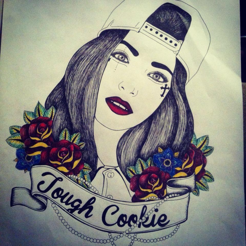 Design tattoo illustration drawing villehaart art woman girl