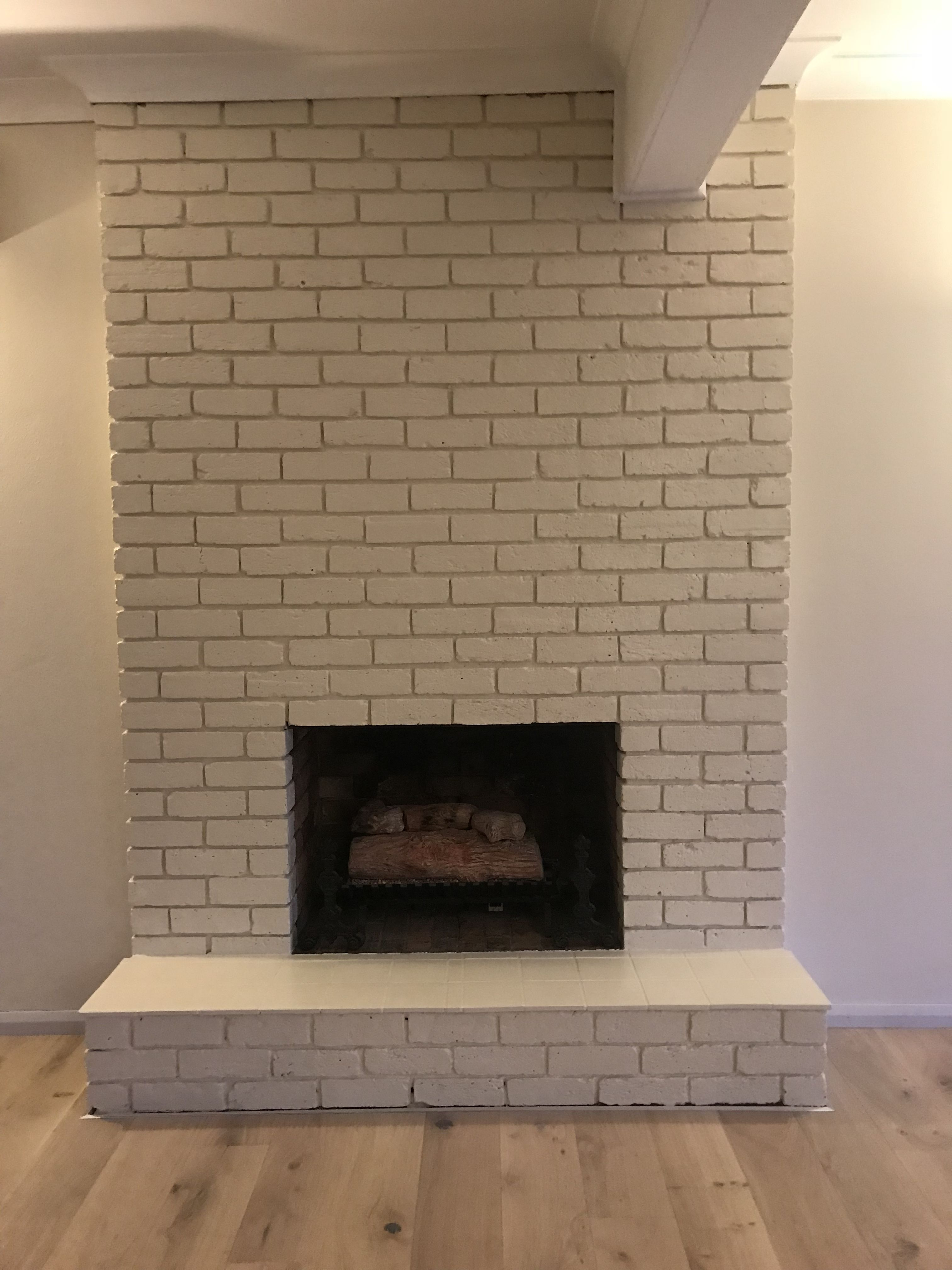 painted brick fireplace don t be fooled it s hard work but the rh pinterest com
