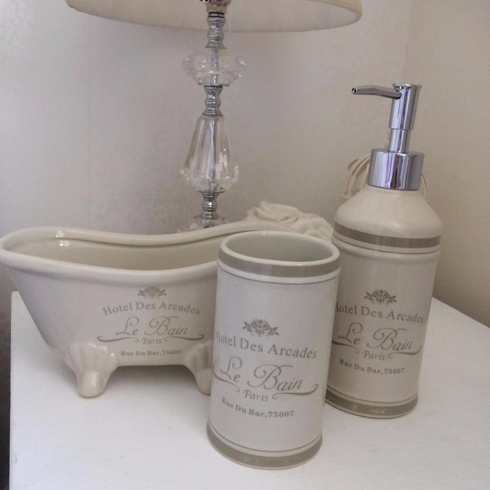 Paris Le Bain Ceramic Soap Dispenser Tumbler
