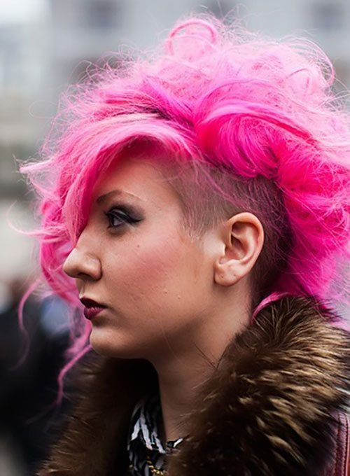 Punk Hairstyles For Curly Hair Extraordanary Awesome