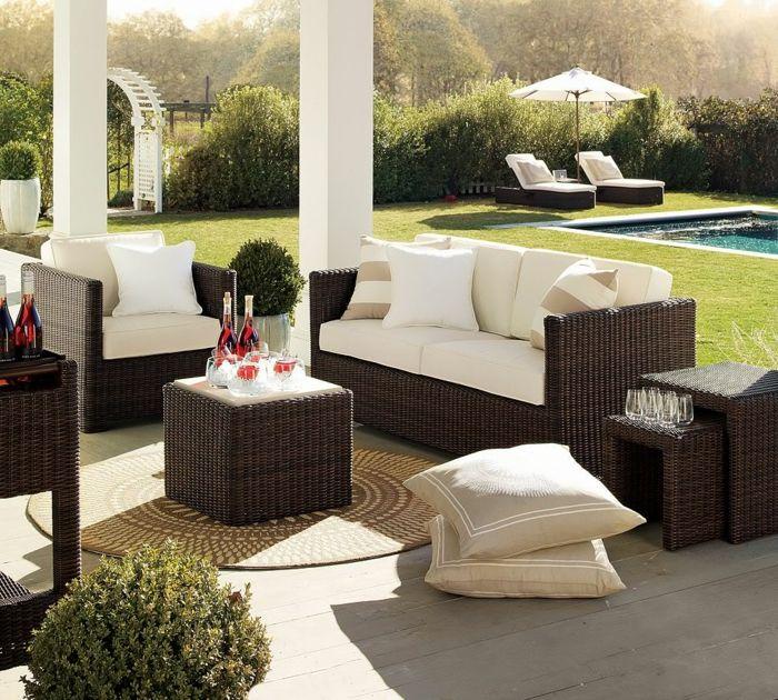 interessante Terrassen Ideen Bilder, stilvolle Loungemöbel und - terrassen gelander design