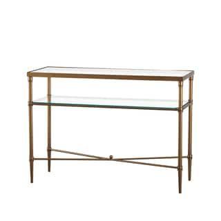madison park signature porter modern glam bronze glass console table rh tr pinterest com