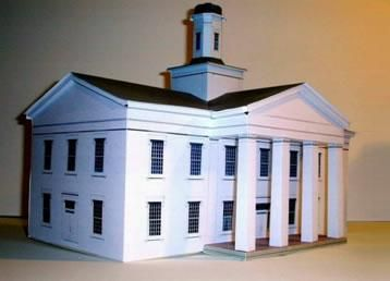 High Quality Papermau: Vandalia State House Paper Model   By Build Your Own Main Street