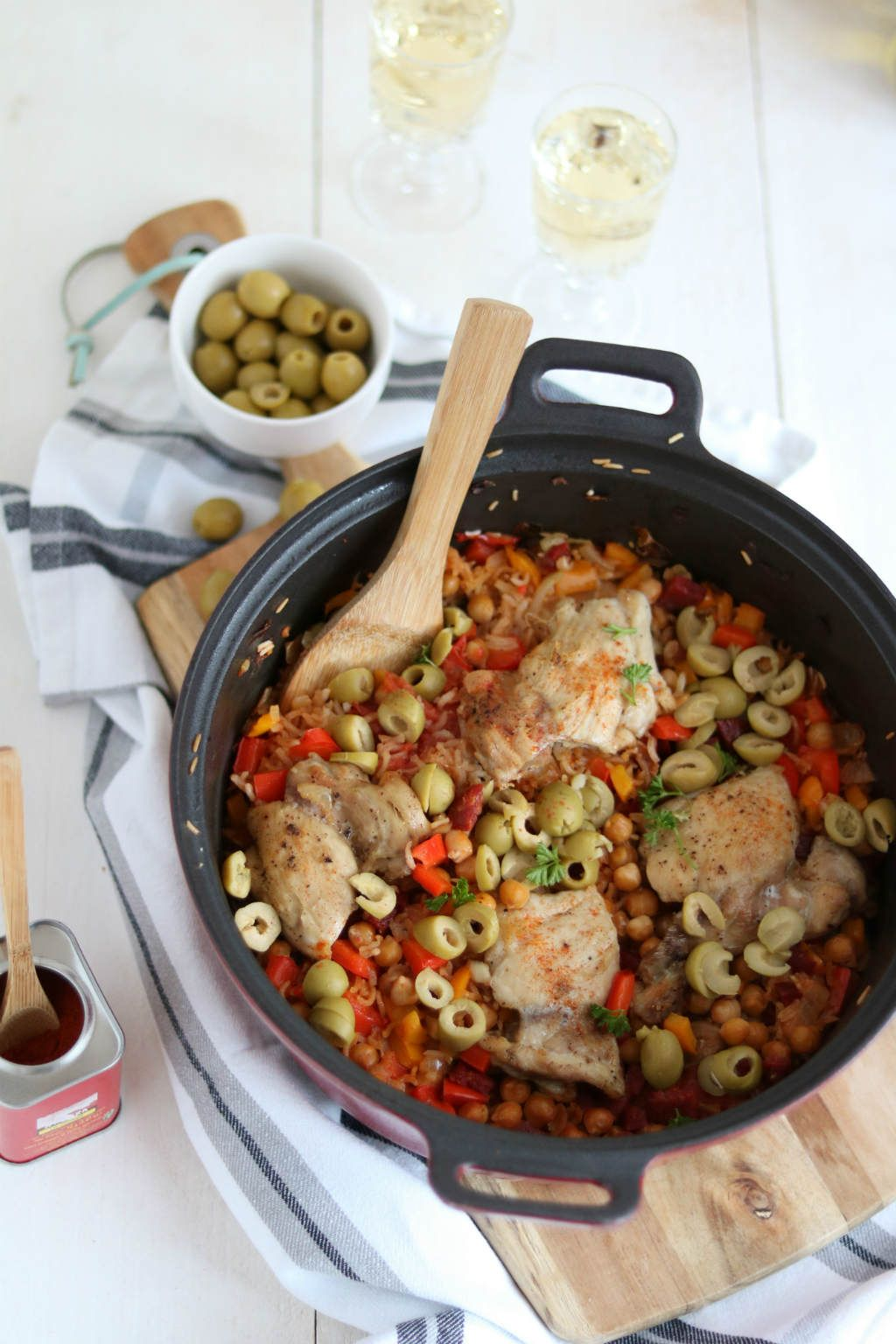 Spaanse Kip Met Rijst Uit De Oven Kiprecepten Pinterest Food