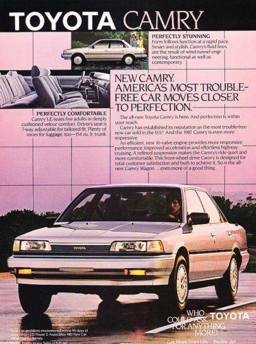 1987 Toyota Camry Sedan Stunning Classic Vintage Advertisement Ad Toyota Camry Camry Toyota
