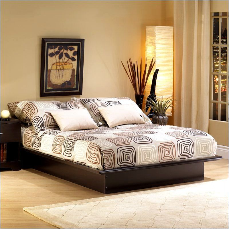 contemporary full size platform bed in 2019 furniture for home rh pinterest com
